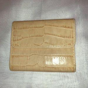 3/20⭐️Abas snap mosaic crocodile print wallet